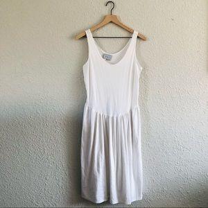 Vintage Venezia White Drop Waist Tank Dress
